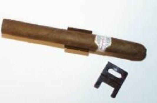 Cigarrenstuhl für 1 Cigarre vernickelt