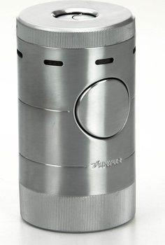 Xikar Volta Jet Tischfeuerzeug vierflammig silber