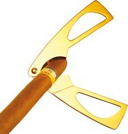 Adorini Zigarrenschere vergoldet
