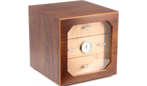 adorini Humidor Chianti M Deluxe Walnuss Schubladen mit Holzfront