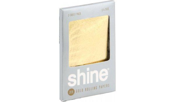 Shine 24K Gold Zigarettenpapier 2 Stück