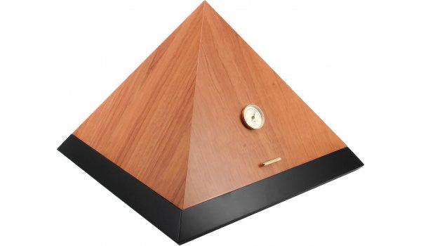 adorini Humidor Pyramid Deluxe L Bicolor Cedro Schwarz