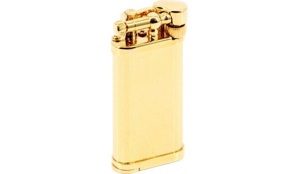 IM Corona Old Boy Feuerzeug körnig vergoldet