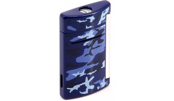 S.T. Dupont Minijet Feuerzeug Blau Camo