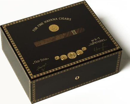 Elie Bleu Schwarzmedaille 75-Zigarren-Humidor