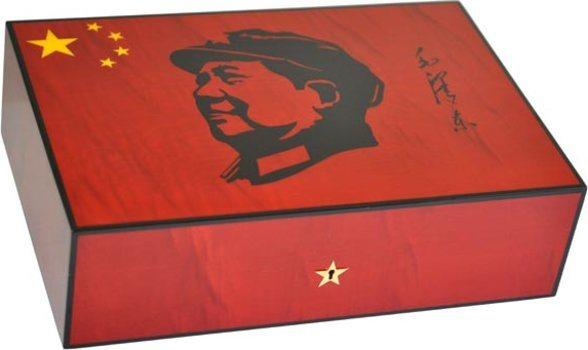 Elie Bleu Mao Humidor aus rotem Ahorn