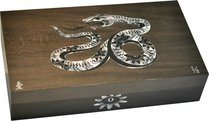 Elie Bleu Mother-of-Pearl Snake begrenzte Auflage grauer Humidor (Nummeriert 1-8)