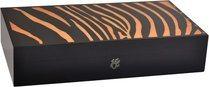 Elie Bleu Safari 110-Zigarren-Einlegehumidor in oranger Zebraoptik