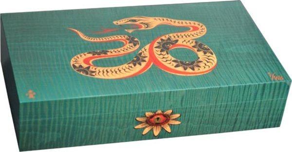 Elie Bleu Snake begrenzte Auflage grüner Einlegehumidor aus Ahorn(nummeriert von 1 bis 88)