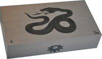 Elie Bleu Snake begrenzte Auflage grauer Einlegehumidor aus Ahorn