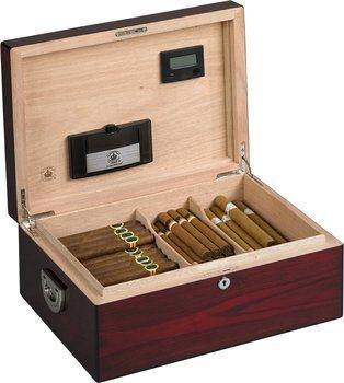 Diamond Crown The Oxford Humidor für 160 Zigarren aus glänzendem Rosenholz