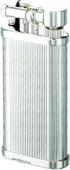 Dunhill Unique Feuerzeug versilbert Längsstreifen