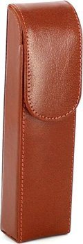 Zigarrenetui 2er Leder braun Überschlag 16cm